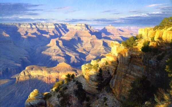 A Summer Sunset 48x72(1997) Grand Canyon painting by Curt Walters