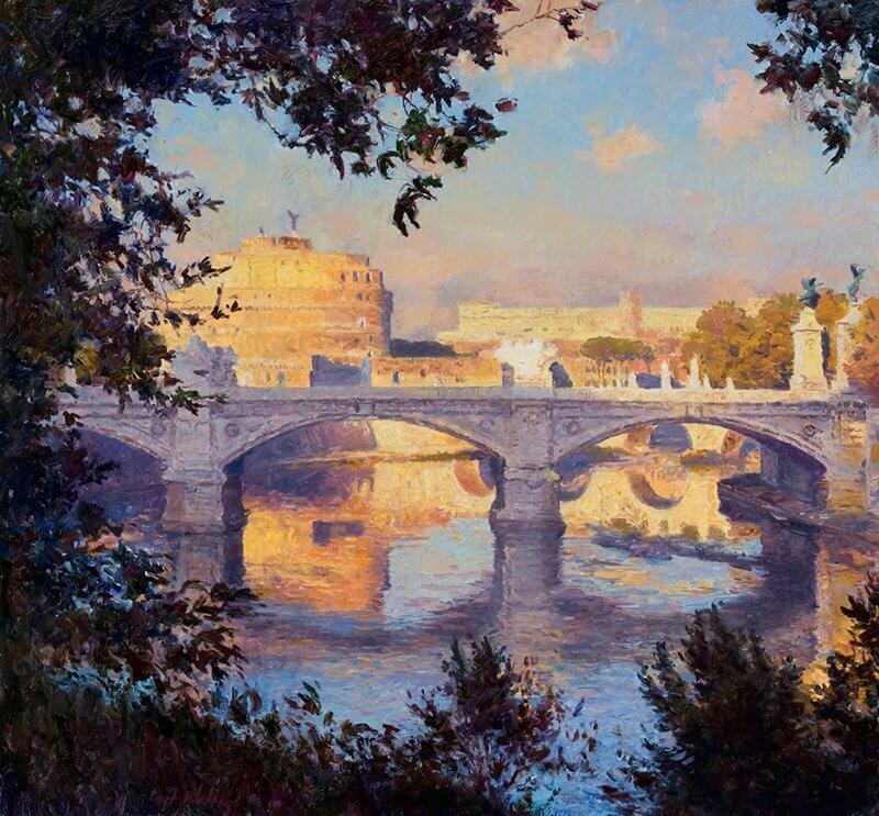 Ponte Sant' Angelo and the Tiber River