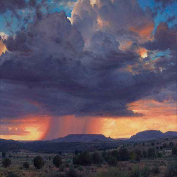 Monsoon Rain for Painted Desert by Artist Curt Walters