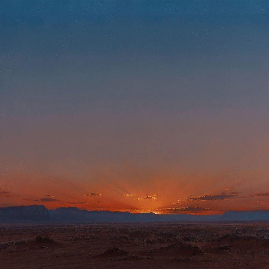 Sunset Over Hoskanini