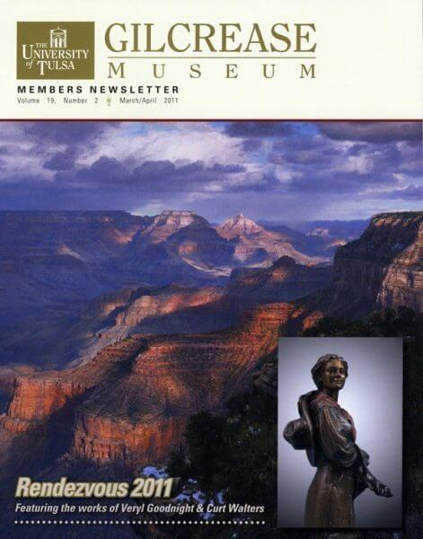 University of Tulsa Gilcrease Museum Members Newsletter 2011 Featuring Grand Canyon Painting by Artist Curt Walters