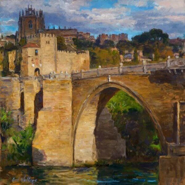 images paintings nedrashow spain Puente de San Martin, Toledo 700x700 painting by Curt Walters
