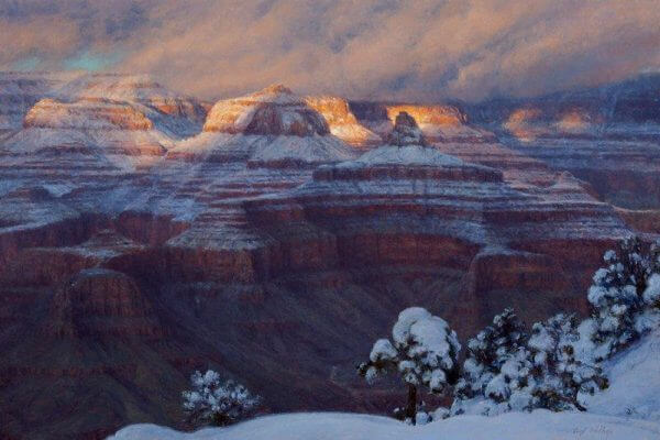 New Snow and Evening Light by Curt Walters