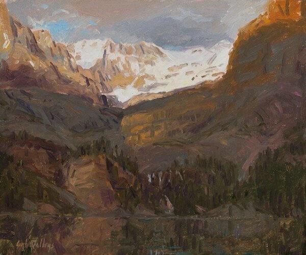Shadow's Rising: Lake O'Hara by Master Grand Canyon Artist Curt Walters