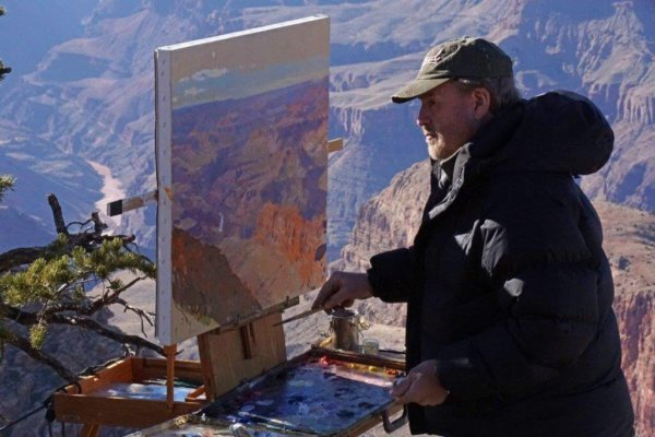 Curt Walters painting Grand Canyon Feb 18, 2016