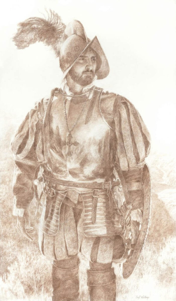 garcia lopez de cardenas september 1540 pencil on paper by Master Grand Canyon Artist Curt Walters