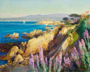 Monterey from afar 24x30 oil on canvas by Master Grand Canyon Artist Curt Walters