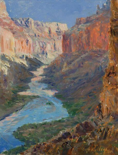 VIEW FROM NANKOWEAP GRANARIES GRAND CANYON by Master Grand Canyon Artist Curt Walters