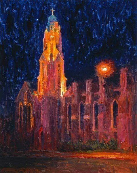 church of the nativity of the blessed virgin mary nocturne by Master Grand Canyon Artist Curt Walters