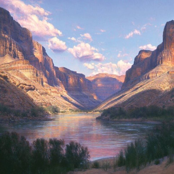 conquistador mile 123 48x48 by Master Grand Canyon Artist Curt Walters
