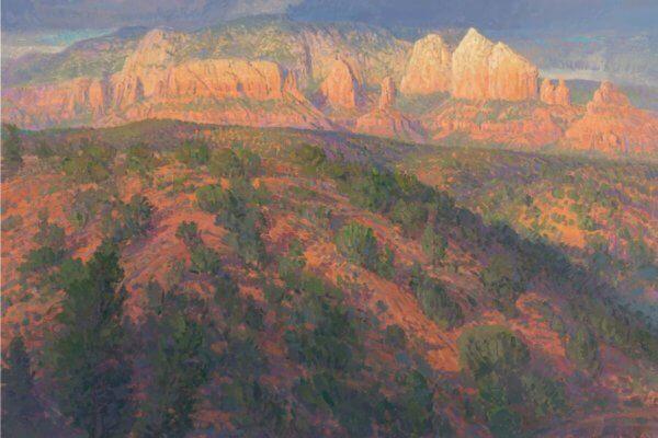 crimson shadows by Master Grand Canyon Artist Curt Walters
