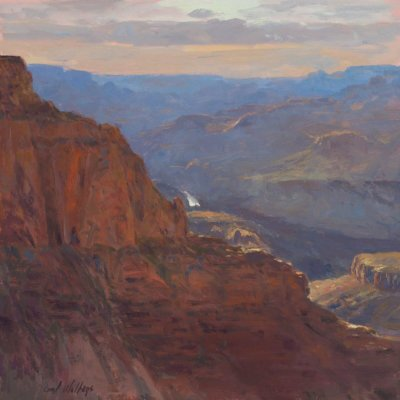 On the Trail to Lipan Point by Master Grand Canyon Artist Curt Walters