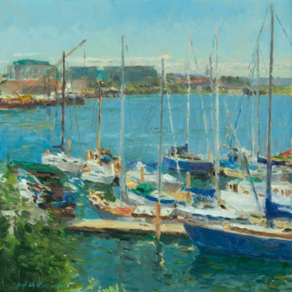 VICTORIA MARINA 14X14 painting by Curt Walters