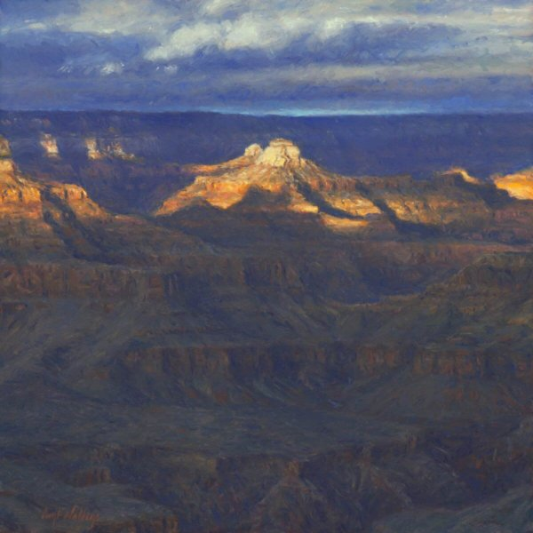 Unexpected Bravado Grand Canyon painting by Curt Walters