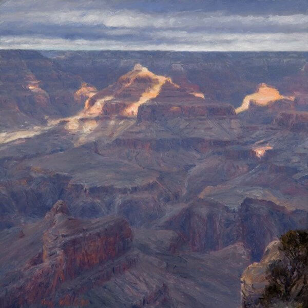A Moment of Sun Grand Canyon painting by Curt Walters