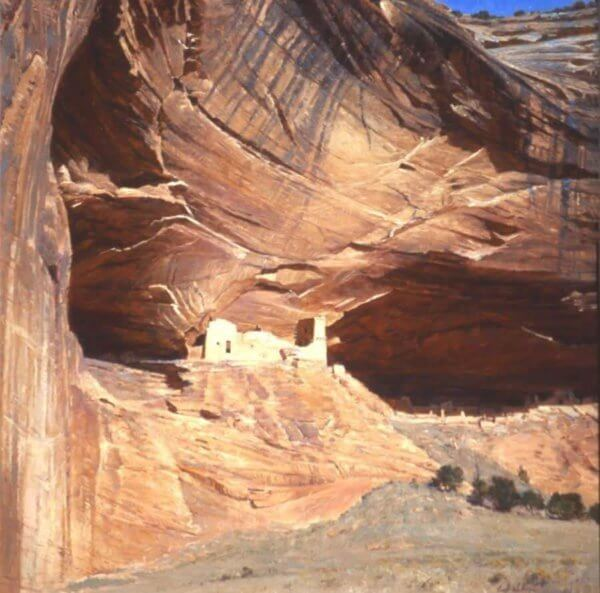 Anasazi Castle painting by Curt Walters