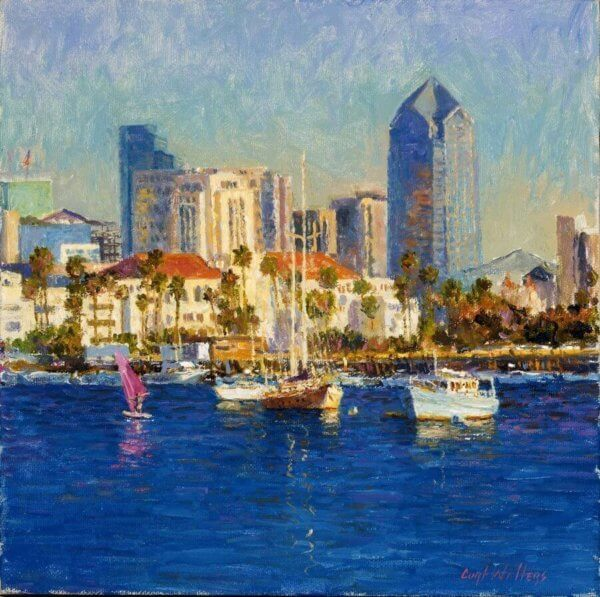 Bayside, San Diego painting by Curt Walters
