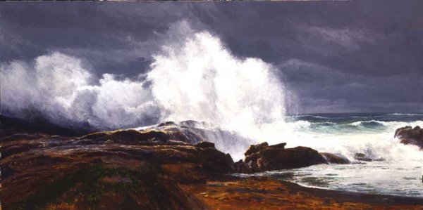 Bodeful Comber painting by Curt Walters