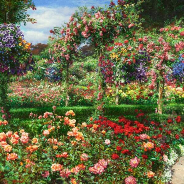 COLORS OF BUTCHART GARDENS AN ALLEGORY FOR LISA painting by Curt Walters