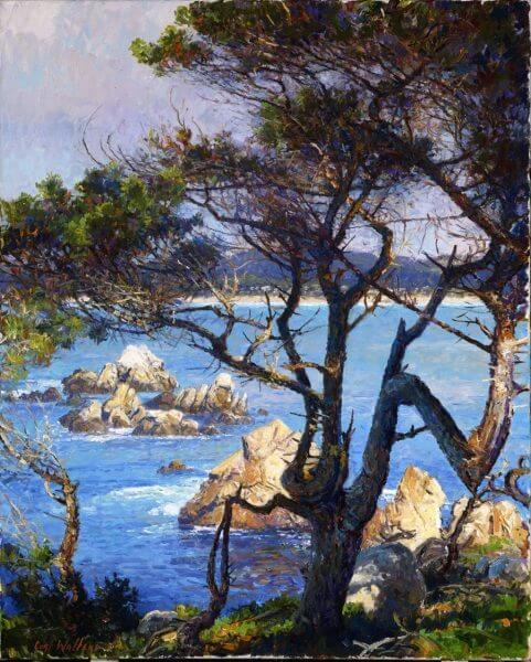 Carmel Intimation painting by Curt Walters