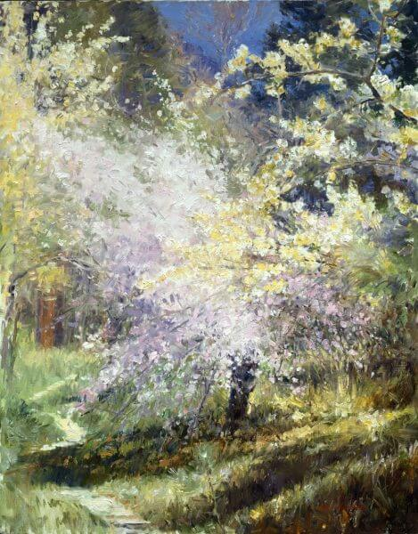 Celebrating Spring painting by Curt Walters