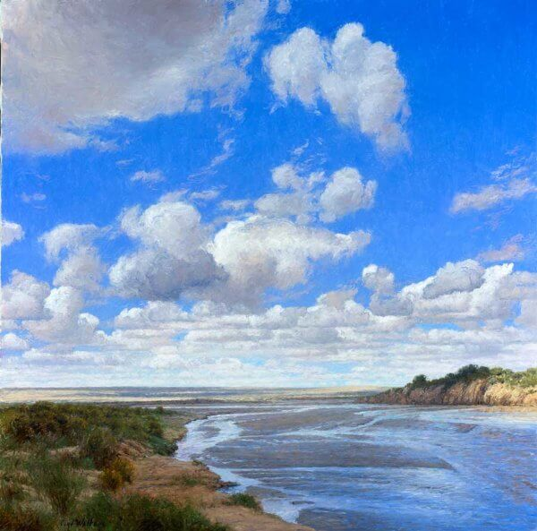 Chaco River painting by Curt Walters