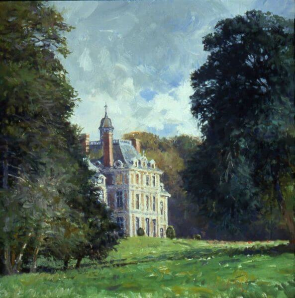 Chateau Balleroy painting by Curt Walters