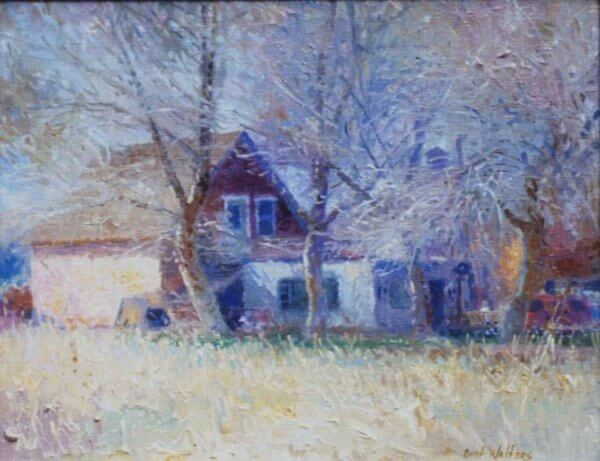 Contexture: the Guest House, My Childhood Studio painting by Curt Walters