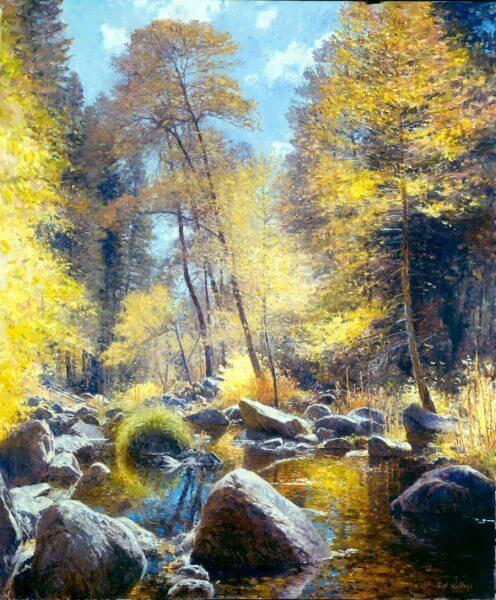 Creekside Splendor painting by Curt Walters