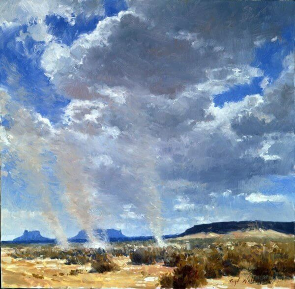 Dust Devils painting by Curt Walters
