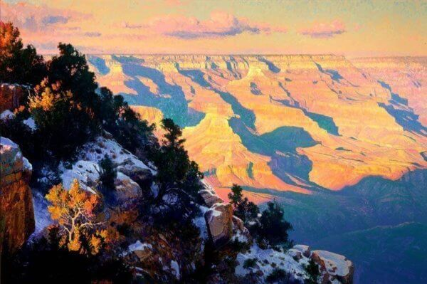 Epilouge 40x60 Grand Canyon painting by Curt Walters