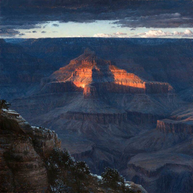 Evening Jewel Grand Canyon painting by Curt Walters