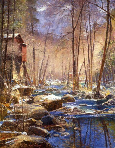 Firehouse painting by Curt Walters