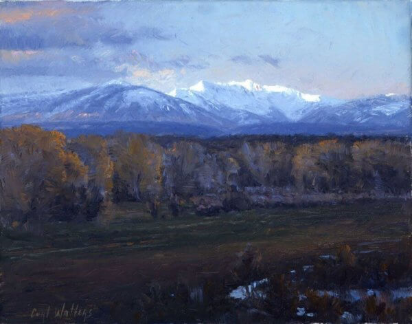 La Plata Mountains painting by Curt Walters