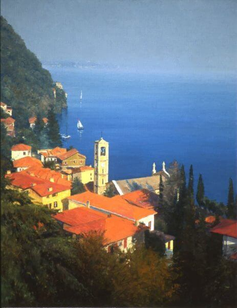 Lake Como Italy painting by Curt Walters