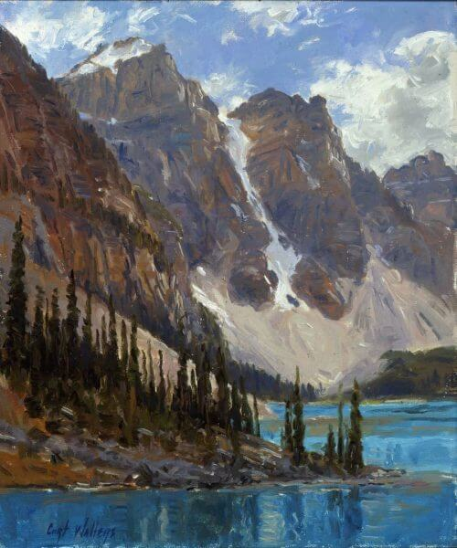 Lake Morain painting by Curt Walters