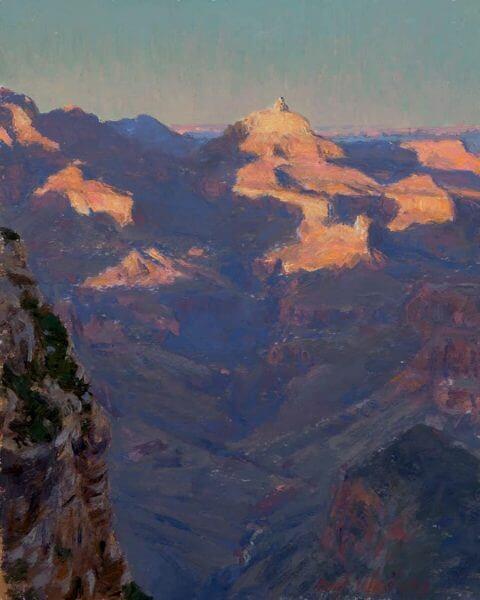 Last Light on Vishnu 10x8 painting by Curt Walters