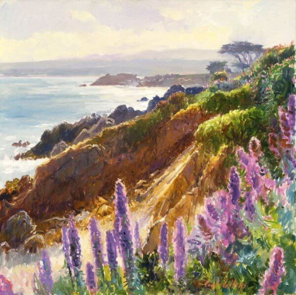 Lover's Point painting by Curt Walters