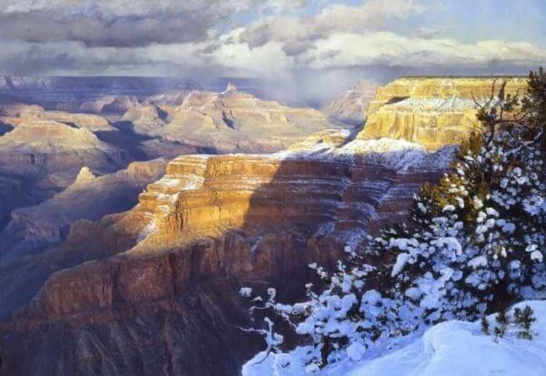 March Enrapture Grand Canyon painting by Curt Walters