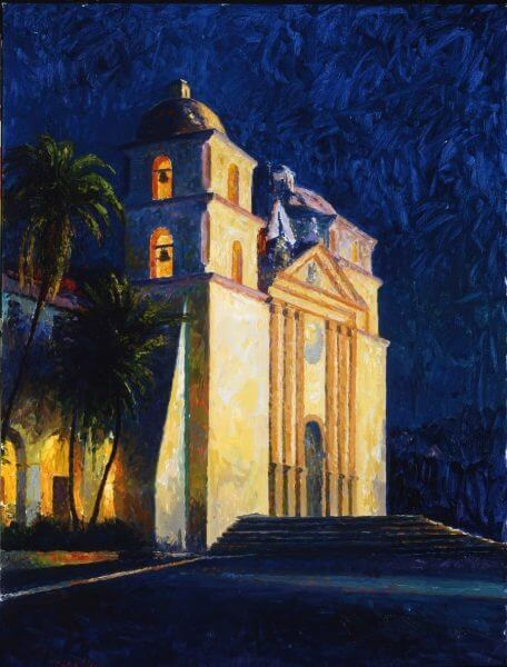Mission Nocturne painting by Curt Walters