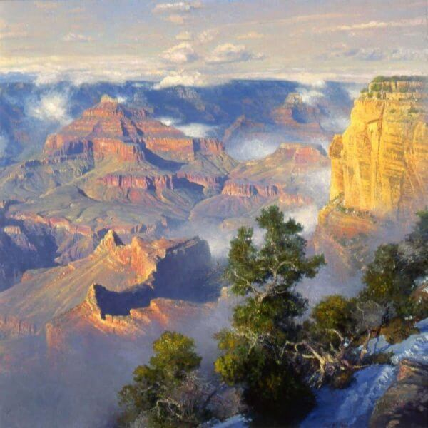 Mohave Fog Grand Canyon painting by Curt Walters