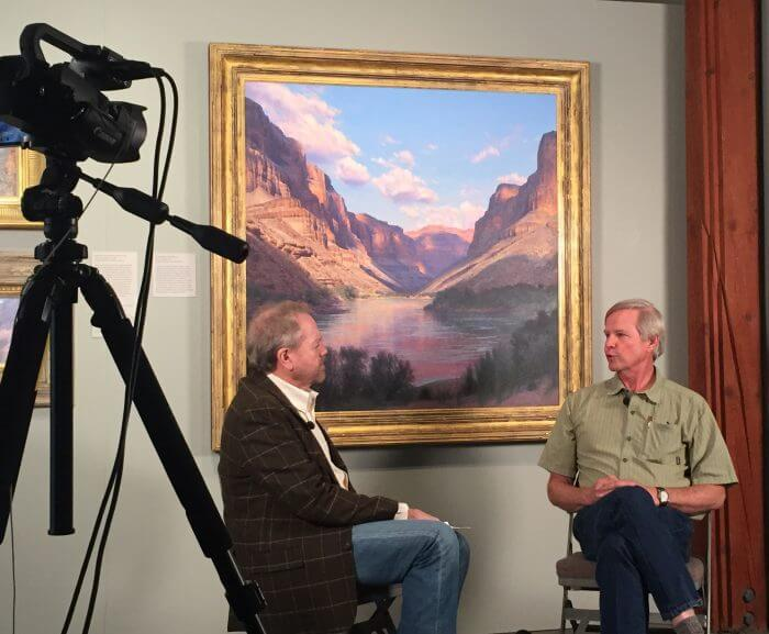 interview under featured painting with Curt Walters and Rick Moore