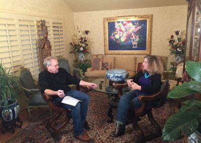Interview in the livingroom (2017-01-29) Curt Walters and Katrina Rogers