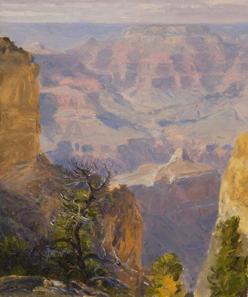 Clement Hues of September 12x10 Grand Canyon oil painting by Curt Walters