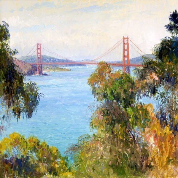 Golden Gate 24x24 (1996) California painting by Curt Walters