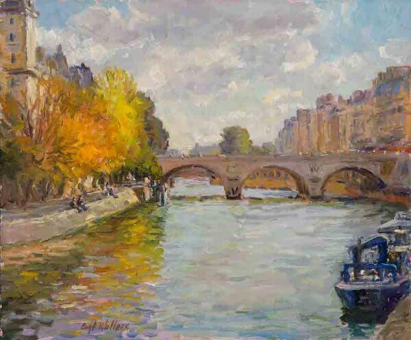 Pont au Change Paris 10x12 painting by Curt Walters