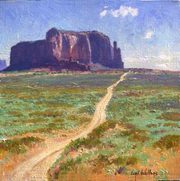 Road to Monument Valley16x16 (1994) oil painting by Curt Walters