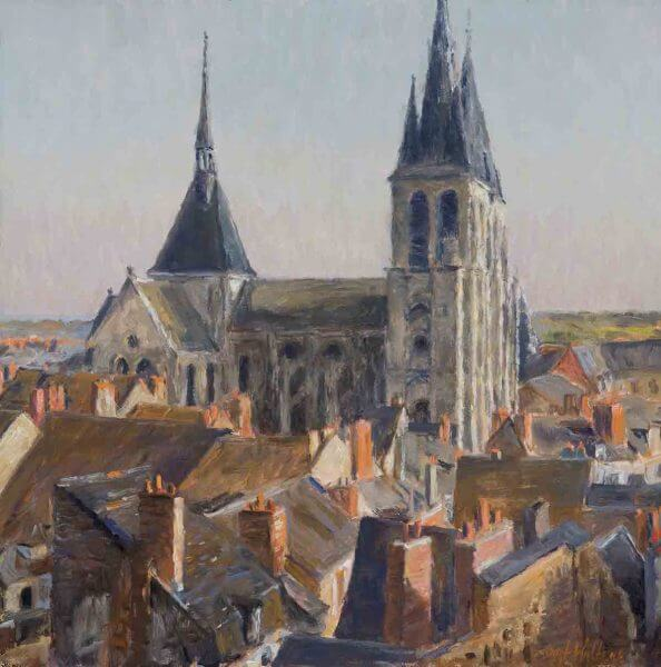Rooftops of Blois oil 12x12 (2008) painting by Curt Walters