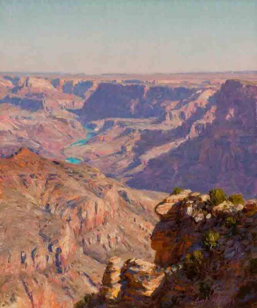 September Morning at Navajo Point 12x10 painting by Curt Walters