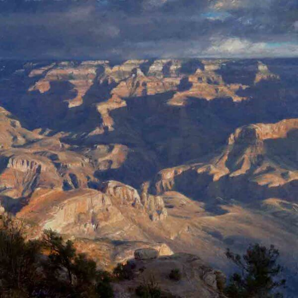 September Morning at Yaki Point 20x20 painting by Curt Walters